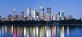 skyline of Sydney, Australia, business district