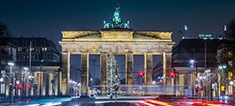 Brandenburg Gate, Berlin, at night