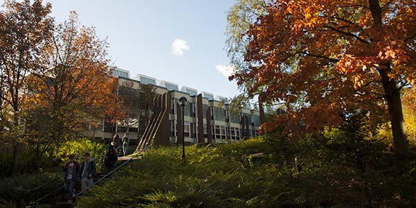 Architecture Building in Autumn.