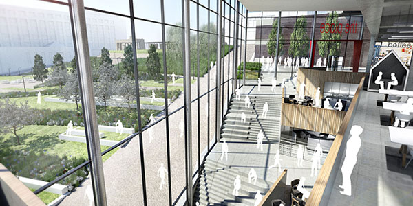 Artist's impression of new student hub.