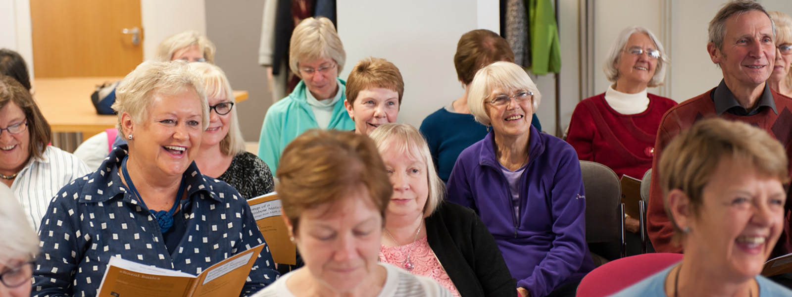 Morning choir singers at the Centre for Lifelong Learning