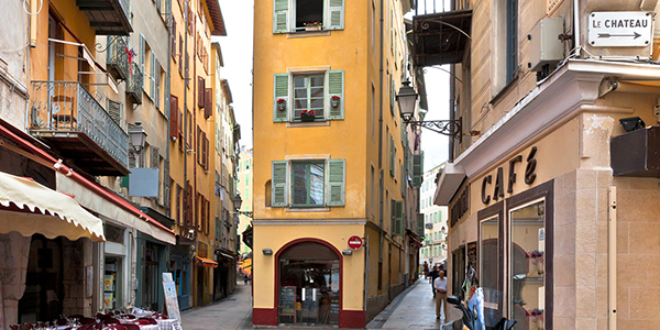 The streets of old Nice, France