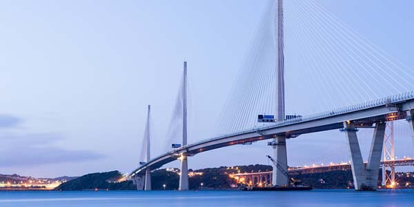 Queensferry crossing over the Forth in Scotland