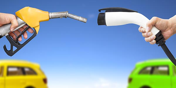 Electric and petrol fuel nozzles