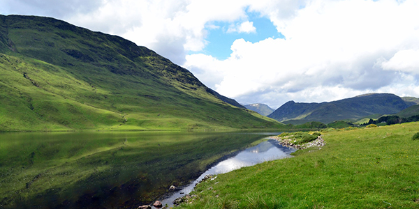 Scottish hills and river