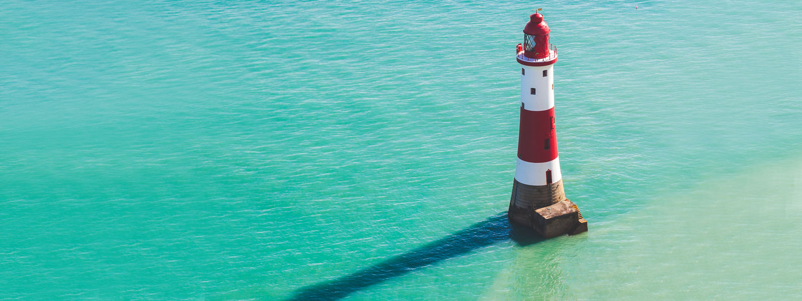 lighthouse in the sea in Southern England