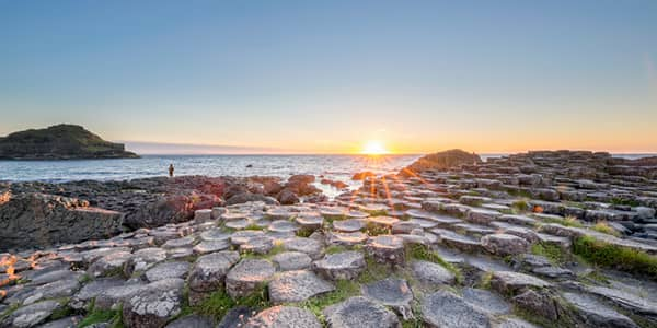 Giant's Causeway at sunset