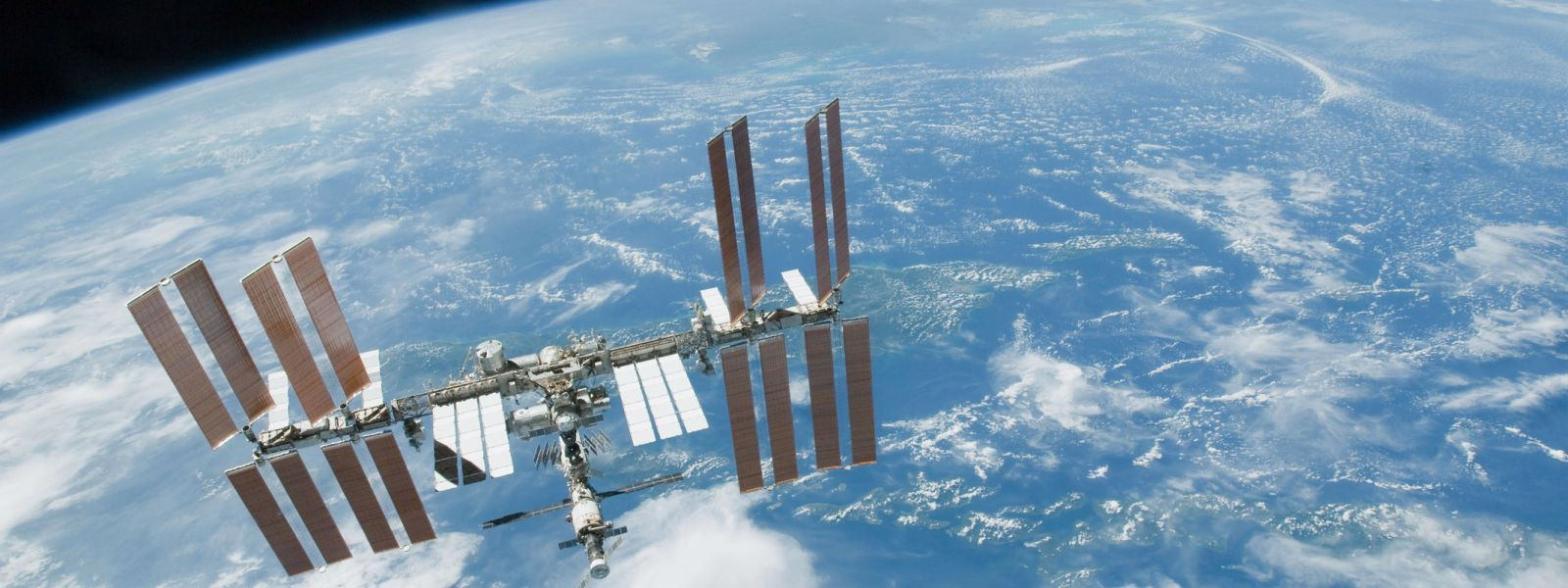 International Space Station in orbit around the Earth