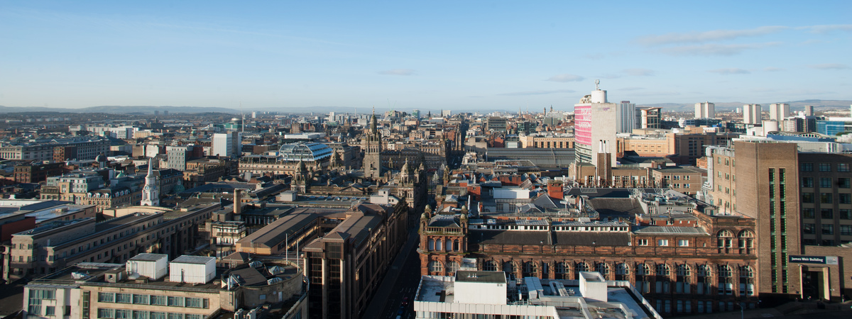View of Glasgow city centre