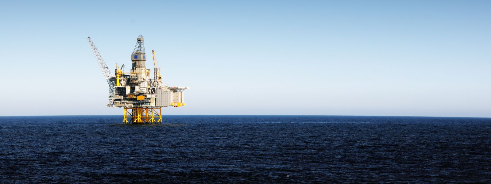 Oil rig in the sea