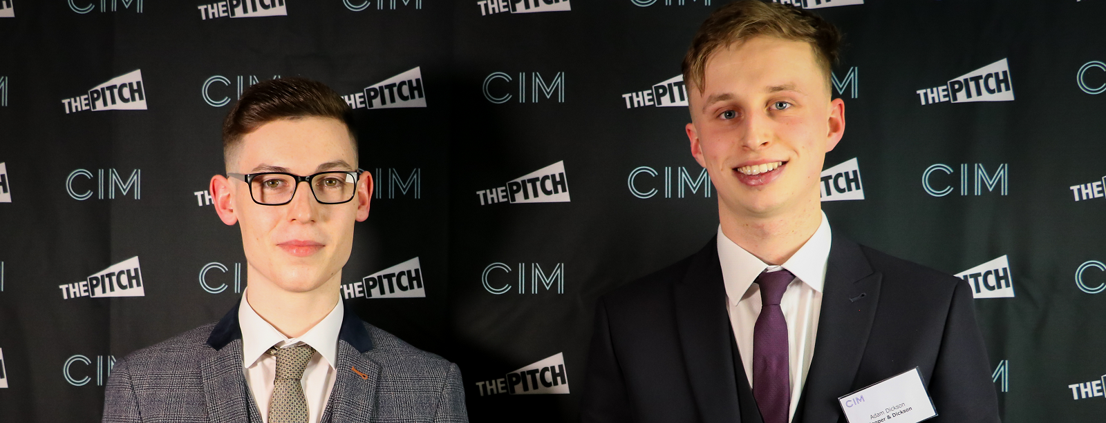 Thomas Cooper (left) and Adam Dickson, winners of The Pitch 2020