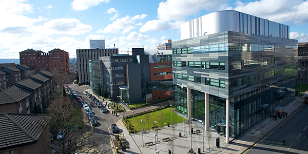 View of campus from Strathclyde Institute of Pharmacy and Biomedical Sciences