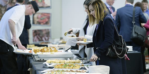 Lunch being service in the Technology and Innovation Centre. Photo: Sandy Young