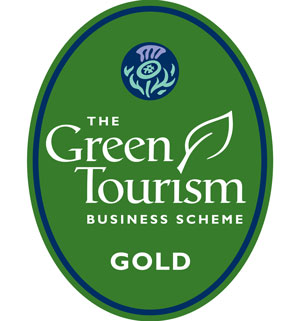 Gold winner of the green tourism award logo