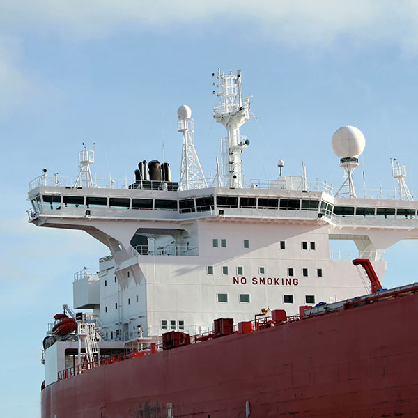 Ship's superstructure, bridge and navigation sensors