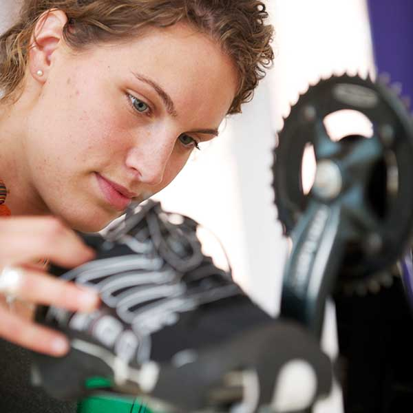 Product Design student working on design for quick-change footwear ideally suited to competitors in triathlon events.