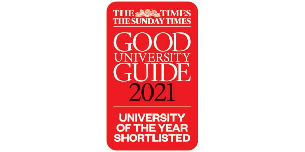 The Times / The Sunday Times Good University Guide 2021. University of the Year shortlisted.