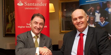 Prof Jim McDonald, Principal of University of Strathclyde and Luis Juste, Director of Santander