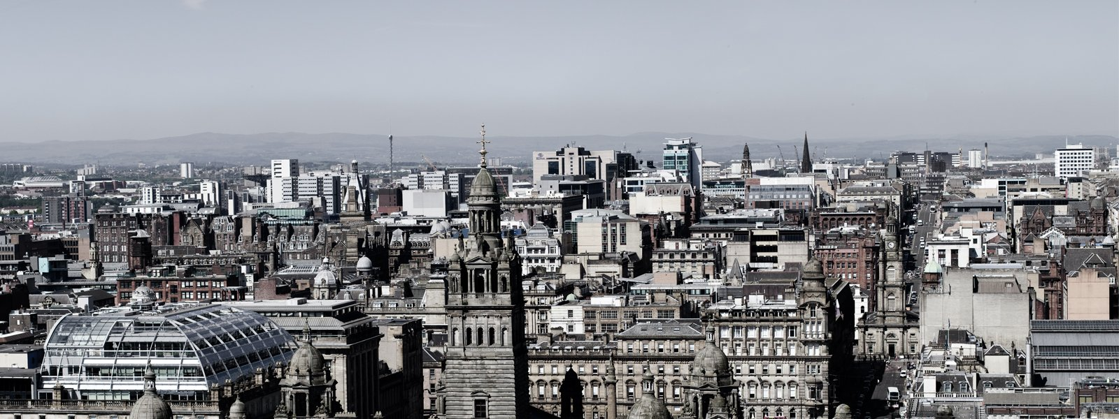 View overlooking Glasgow from the top of Livingston Tower