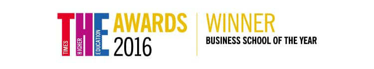 Winner THE 2016 Business School of the year logo