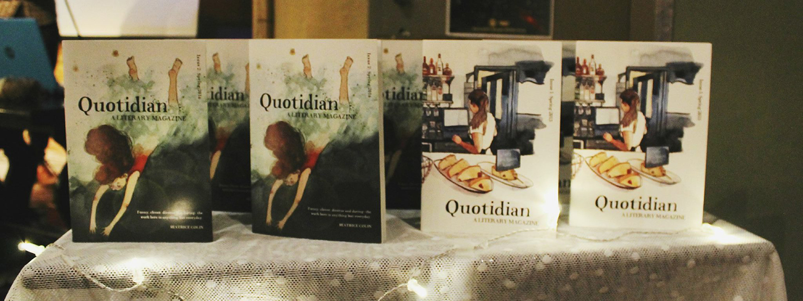 Copies of Quotidian, literary magazine