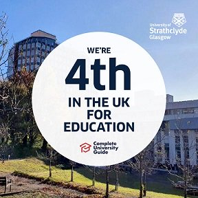 4th in the UK for  education logo