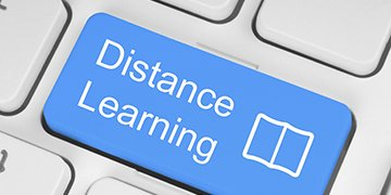 Digital image of keyboard with 'Distance Learning' written on button
