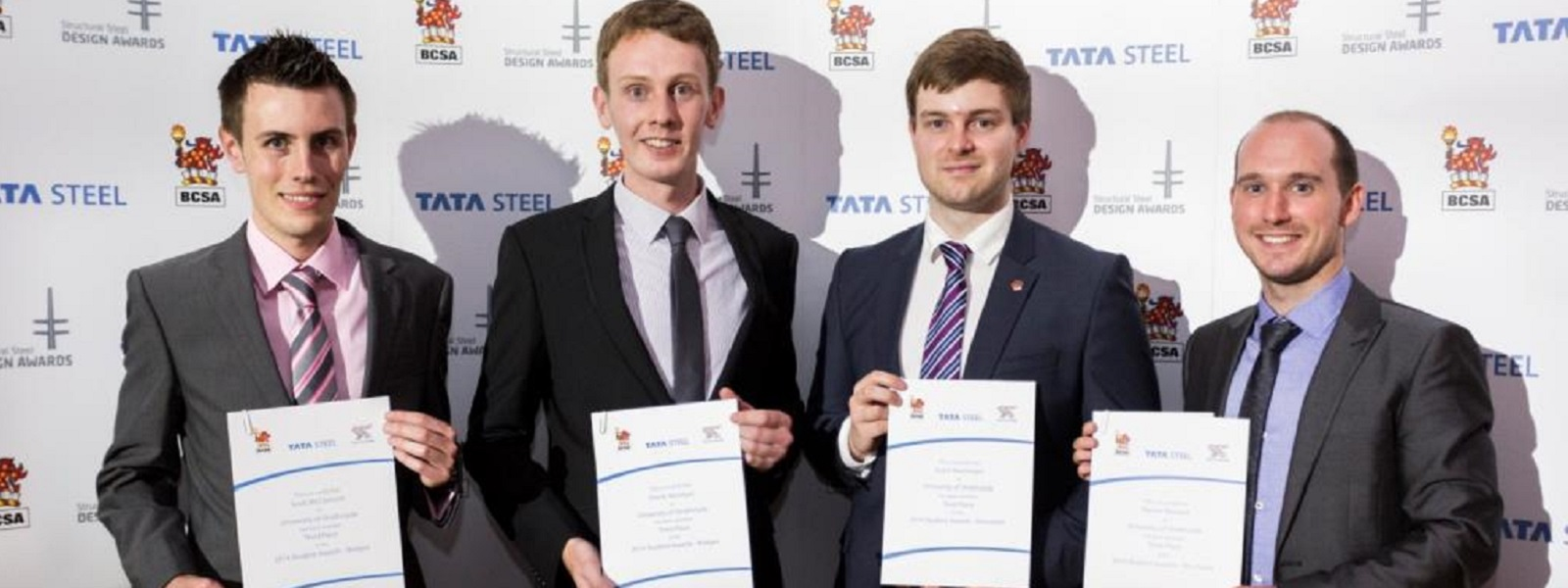 Students receiving TATA Steel Awards