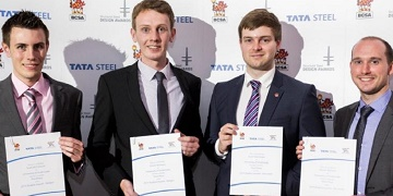 Students winning awards at the TATA awards