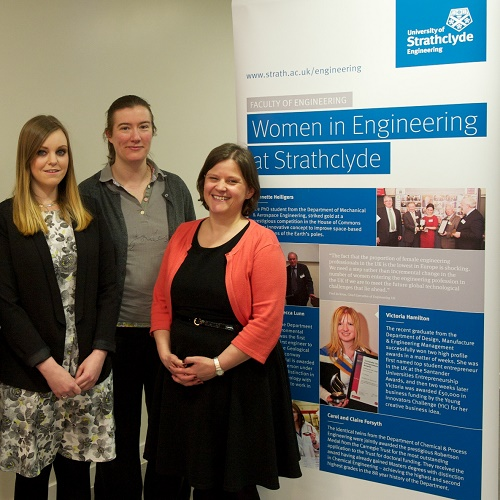 female engineering staff at WISE networking event