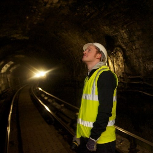 civil and environmental engineering student in Glasgow subway