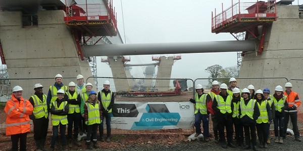 Student site visit to Queensferry Crossing