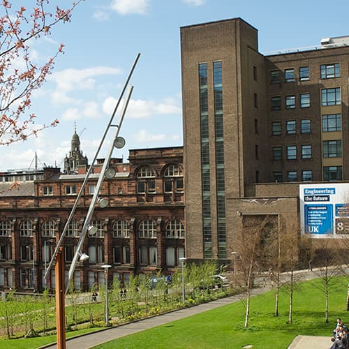 James Weir Building from Rottenrow Gardens