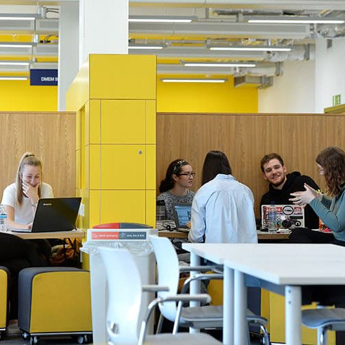 Students studying in the Department of Design, Manufacturing & Engineering Management