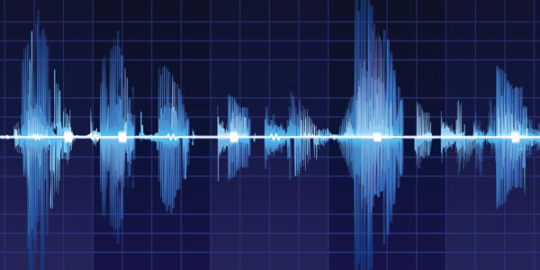 speech recognition software analysing a soundwave