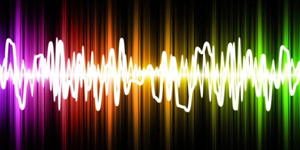 colourful soundwaves