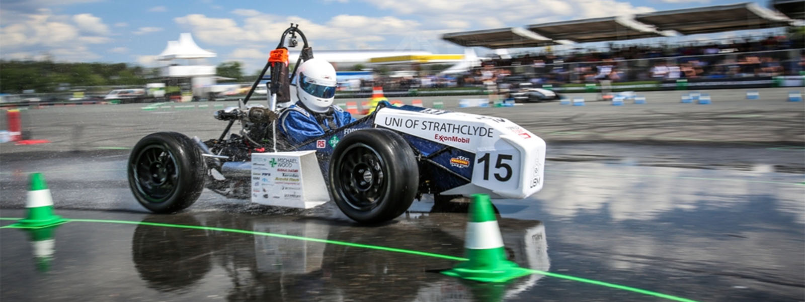 Formula student car on the race track