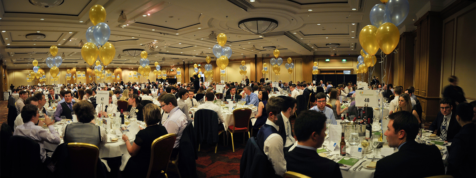 Students at Engineering Gala dinner