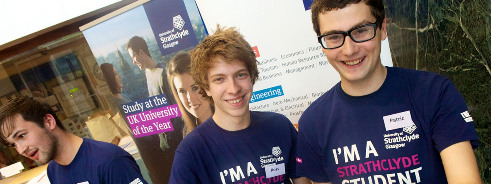 Student ambassadors at an open day