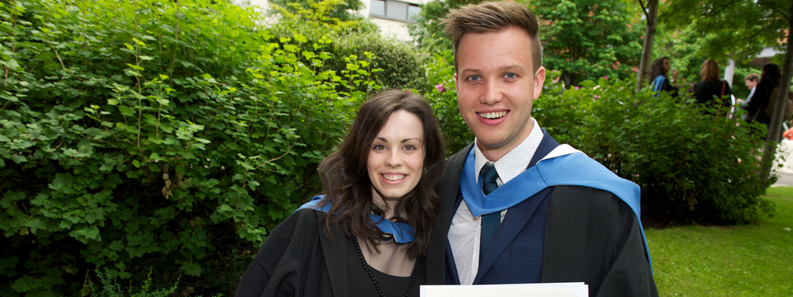 Maria Donachie & Greg Clarke, graduates from the Faculty of Humanities & Social Sciences, July 2015