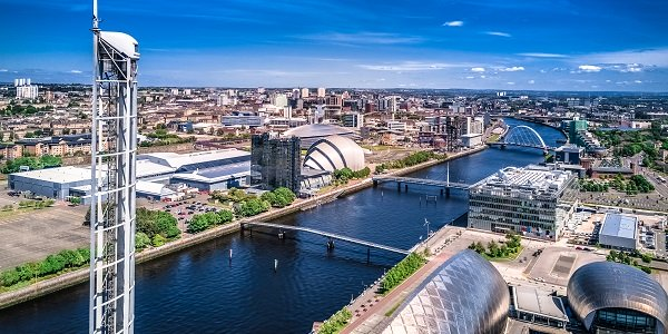 view of Glasgow's River Clyde