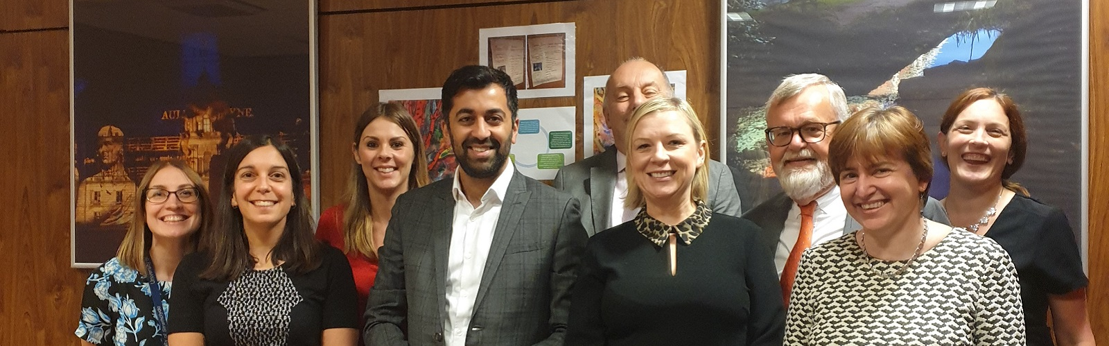The Cabinet Secretary for Justice, Mr Humza Yousaf, visited the Centre for Youth & Criminal Justice (CYCJ)
