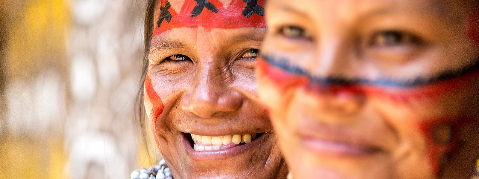 Two smiley Brazilian indigenous women