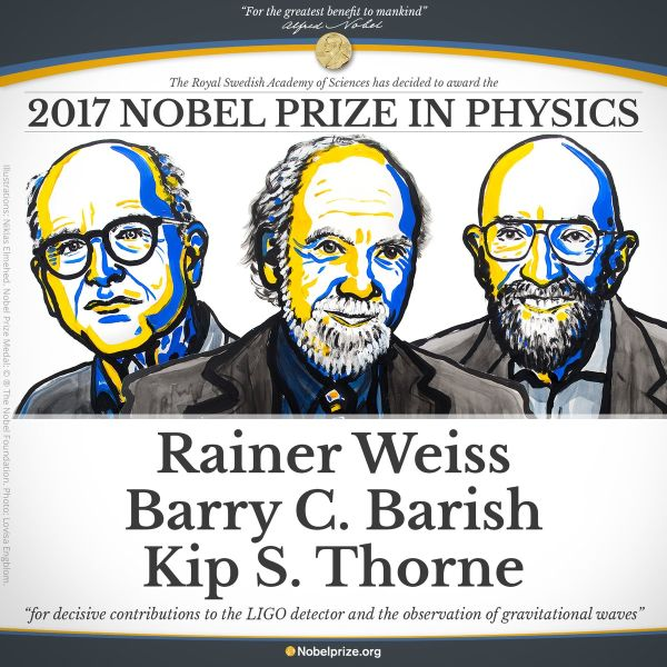 Nobel Prize in Physics 2017 (c) The Nobel Foundation