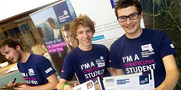 Strathclyde open day students