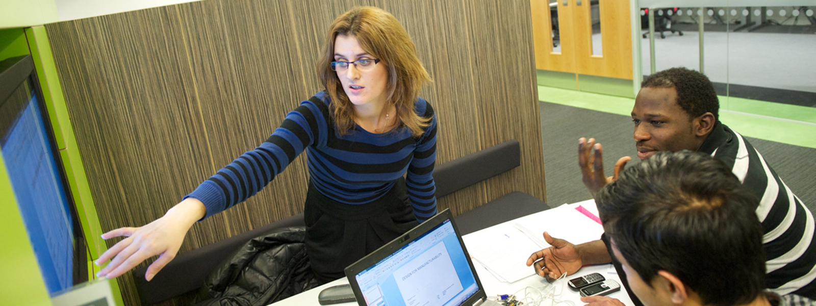 people using study area in library