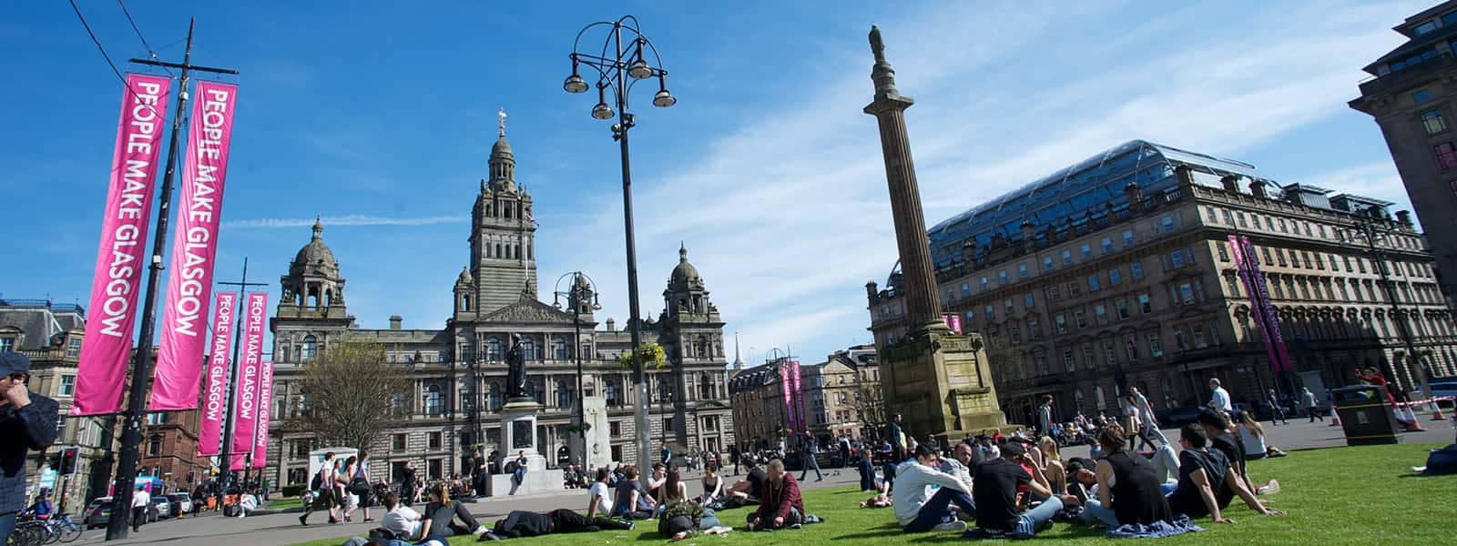 George Square in the sunshine
