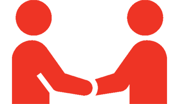 Icon of two people shaking hands.
