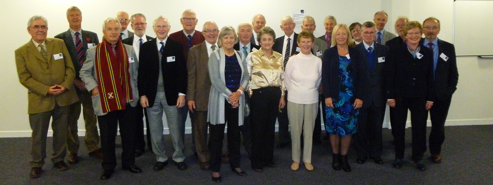 Participants at the 50th anniversary reunion of 1964 graduates of the Royal College, University of Strathclyde