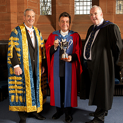 Dr Jeffrey Fergus is presented with the 2013 Strathclyde People Award